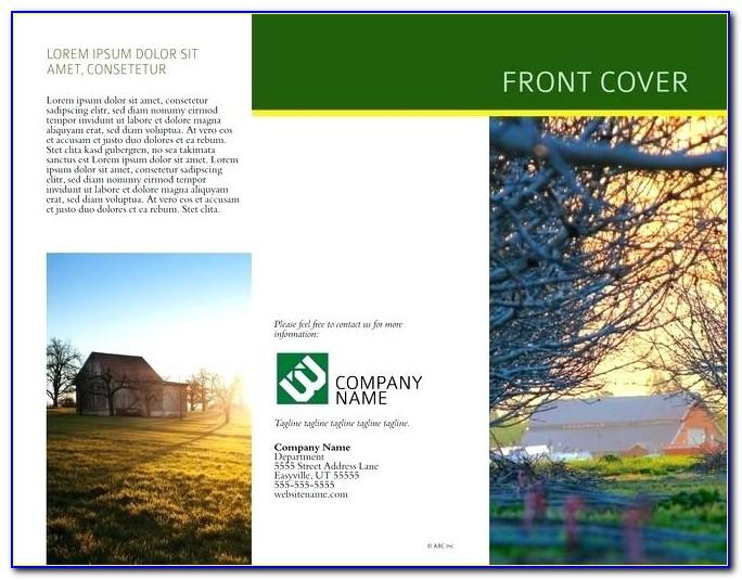 Landscape Design Brochure Templates Free