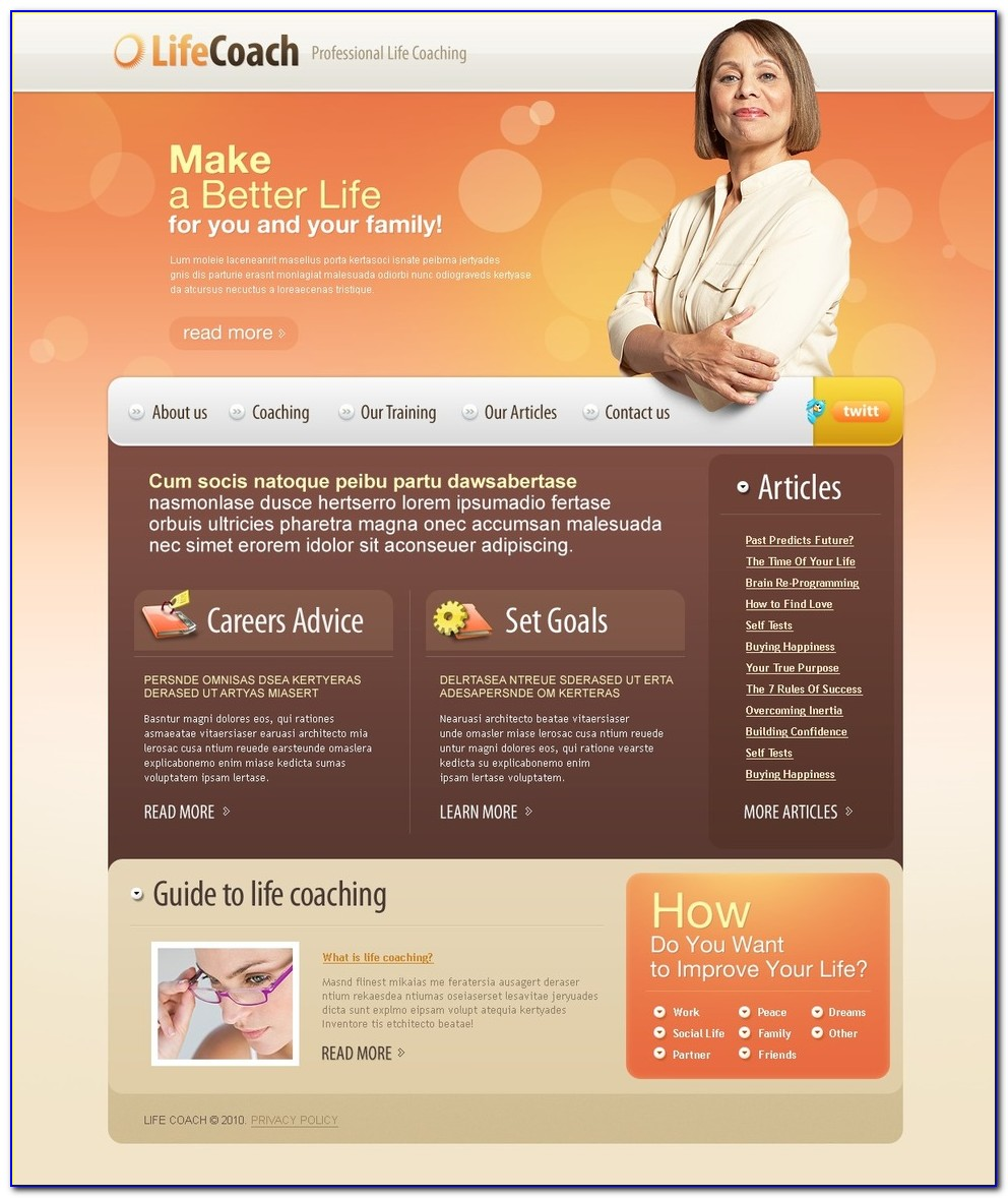 Life Coaching Website Templates