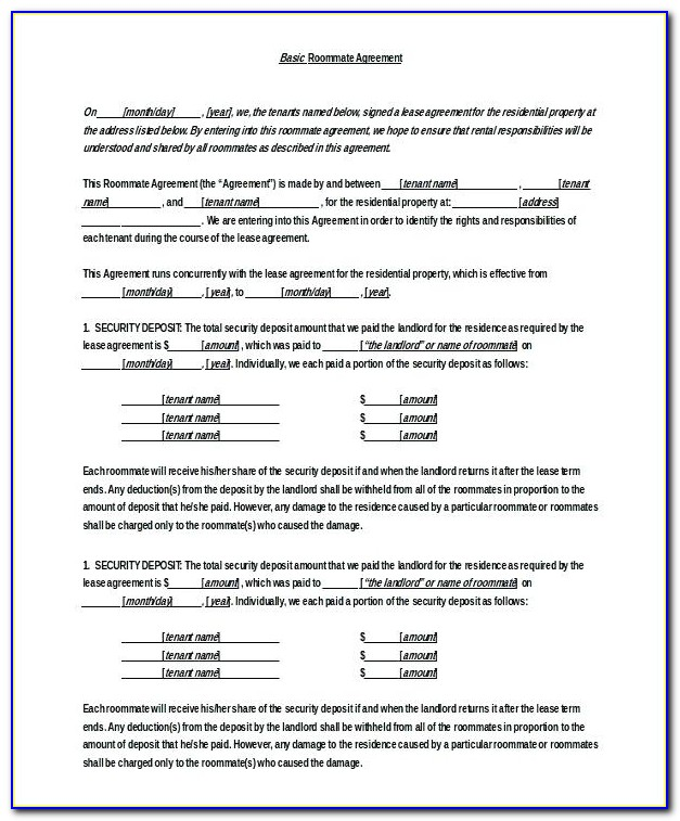 Lodger Agreement Template Spare Room
