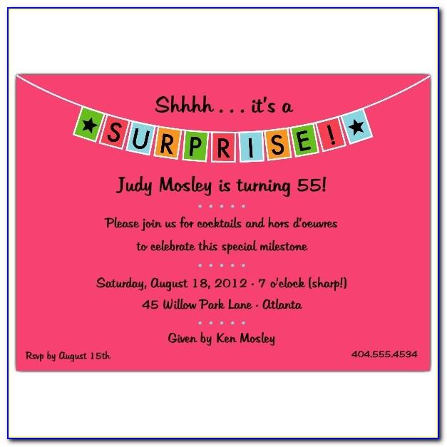 Lol Surprise Party Invite Template