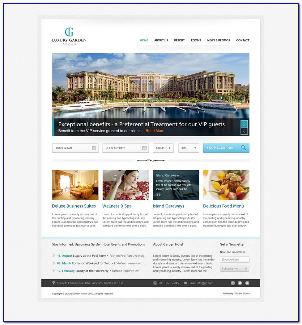 Luxury Website Templates Bootstrap