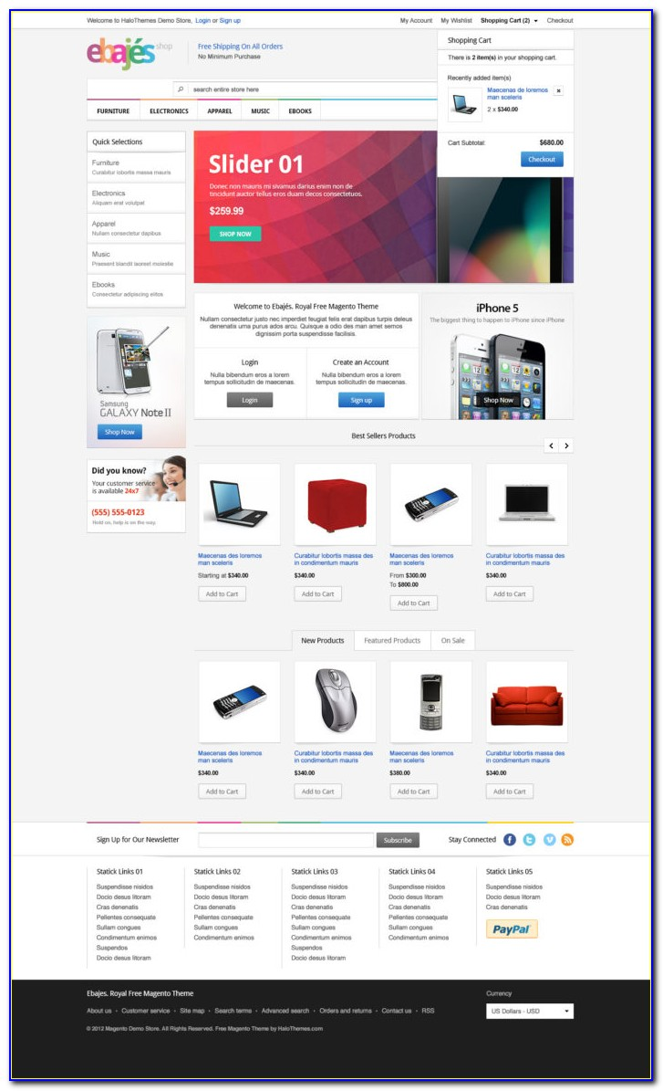 Magento Newsletter Template Free