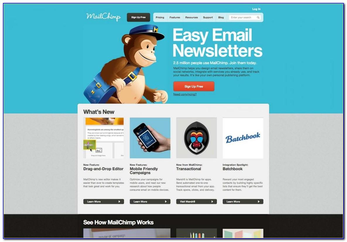 Mailchimp Newsletter Templates Responsive