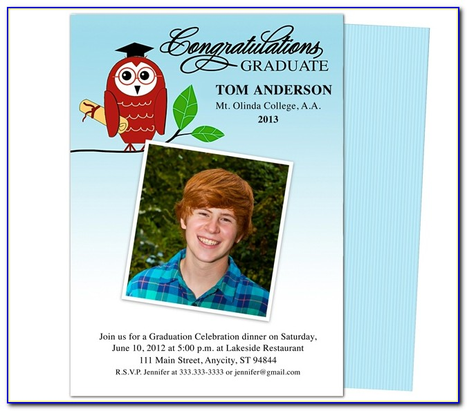 Make Your Own Graduation Announcement Template