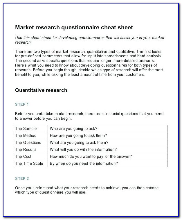 Market Research Survey Questionnaire For Clothing