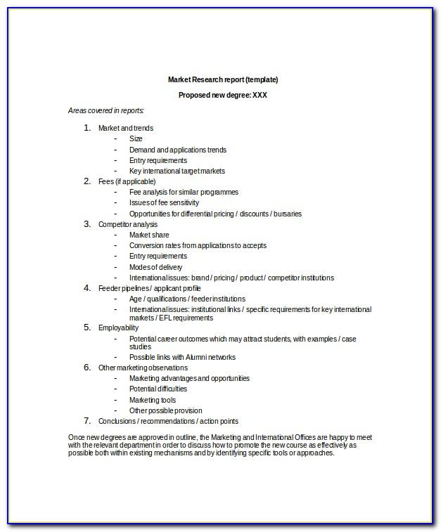 Market Research Survey Questionnaire