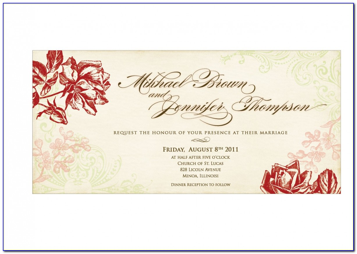 Marriage Invitation Template Png