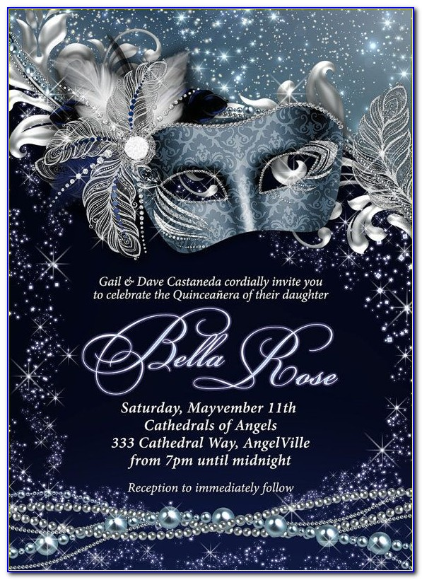 Masked Ball Invitation Template