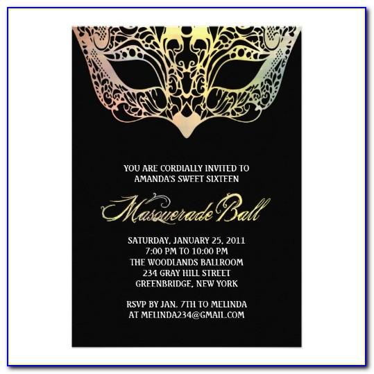Masquerade Ball Invitation Maker