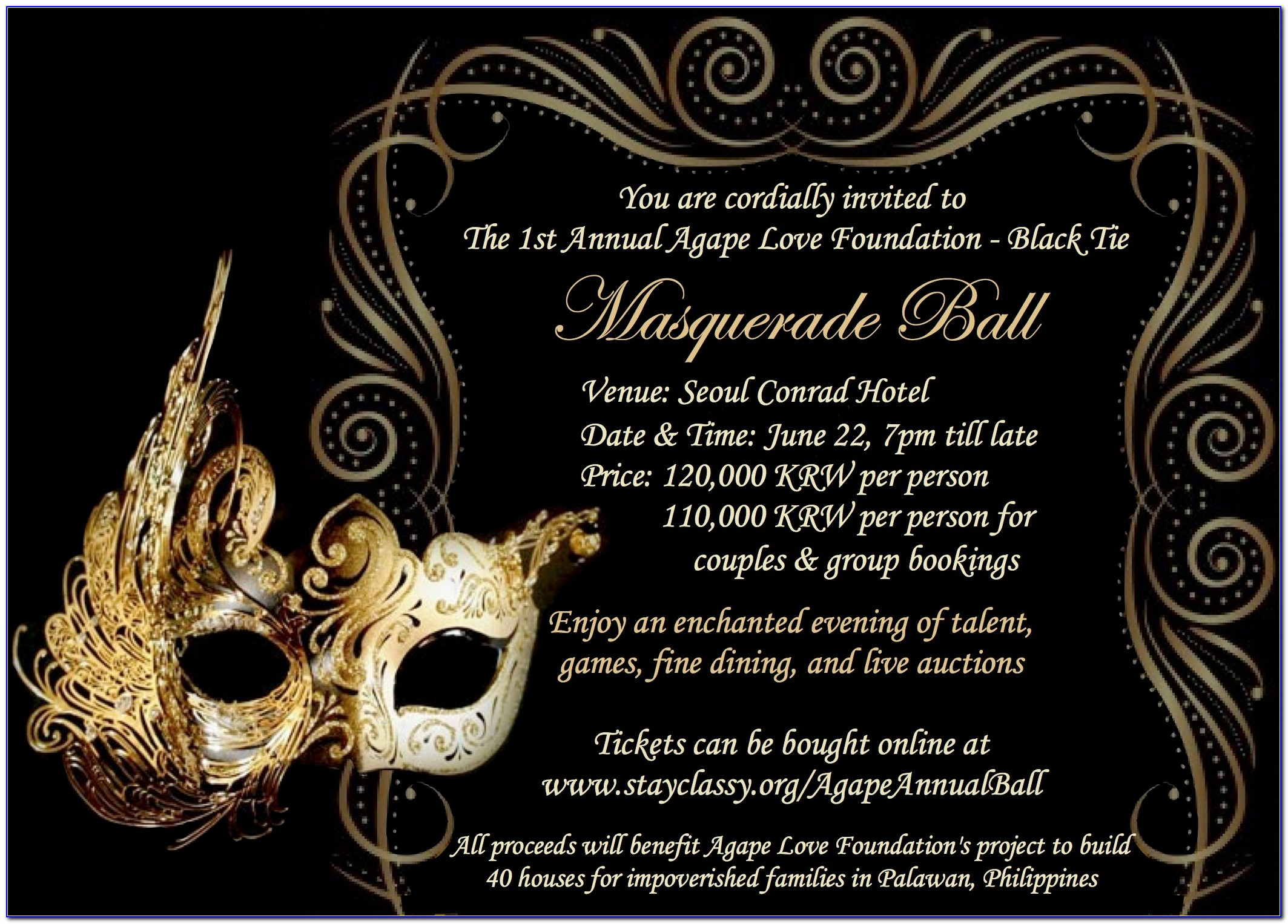 Masquerade Party Invitation Templates