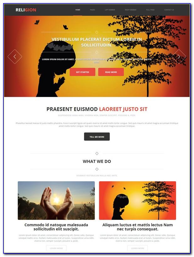 Meditation Website Templates Free Download