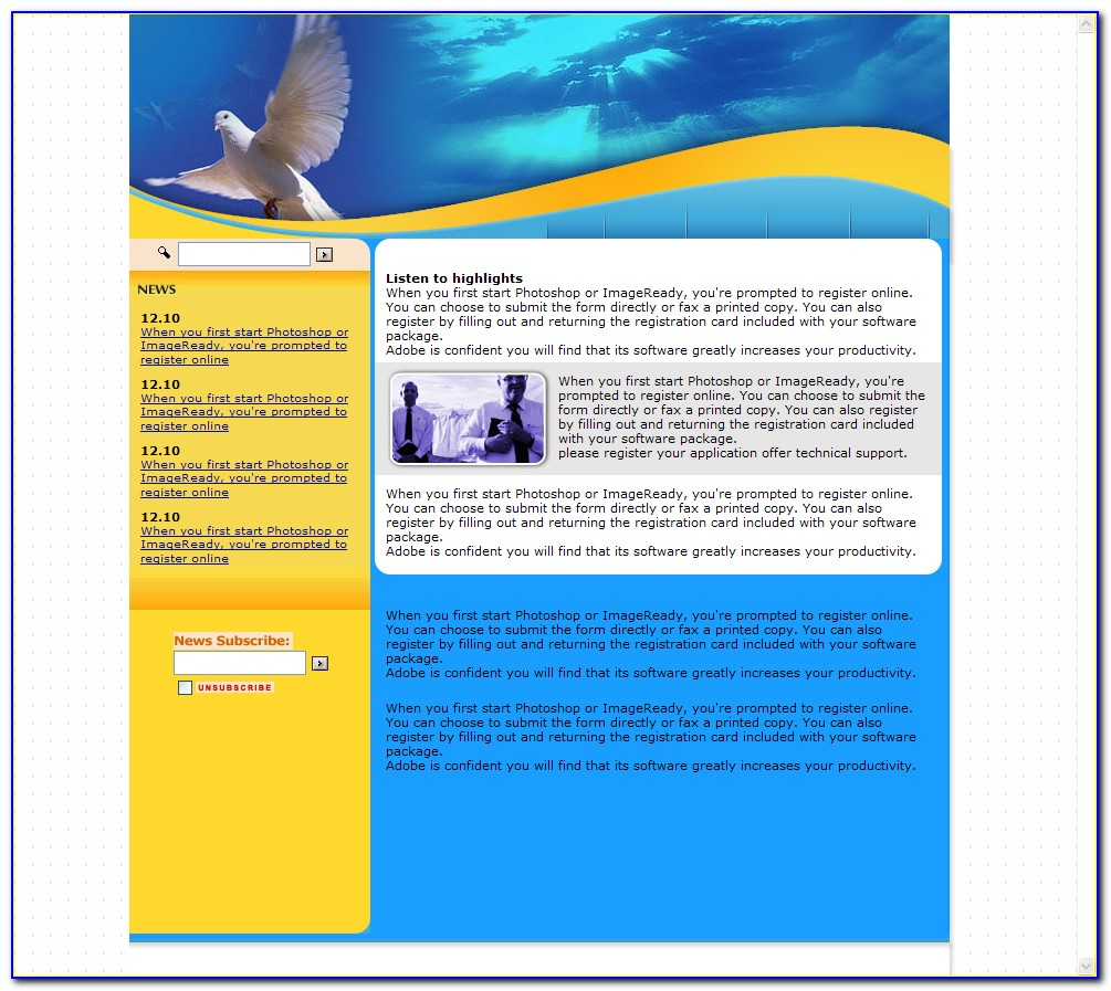 Meditation Website Templates Free