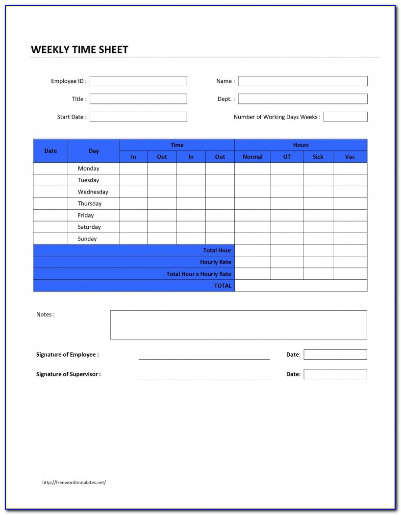 Microsoft Office Online Timesheet Template