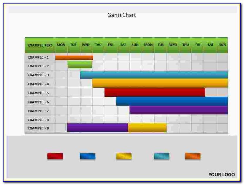 Microsoft Powerpoint Gantt Chart Template Free