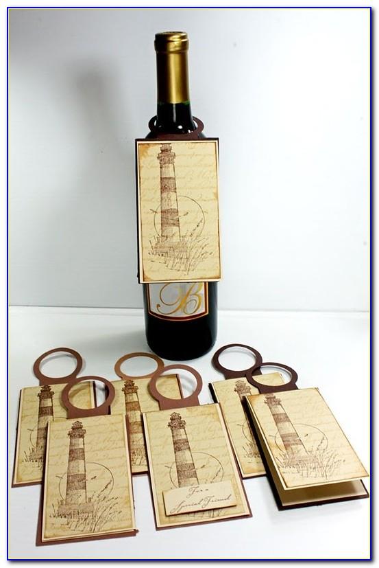 Mini Wine Bottle Tag Template