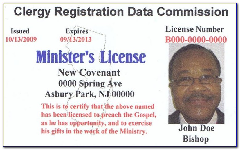 Minister Id Card Template