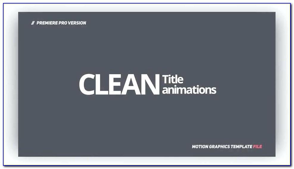 Motion Graphic Template Premiere Pro