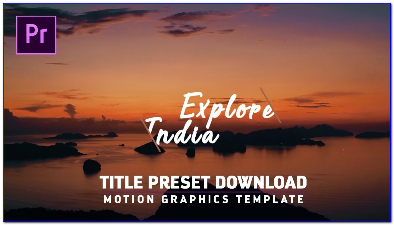 Motion Graphics Template For Premiere Pro Cc