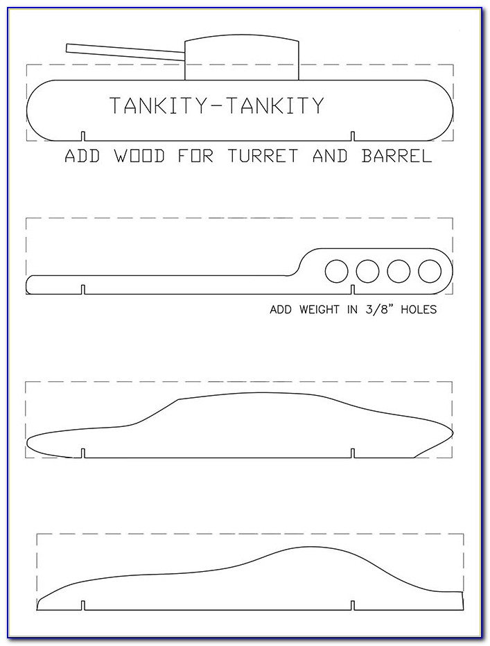 Mustang Template For Pinewood Derby Car