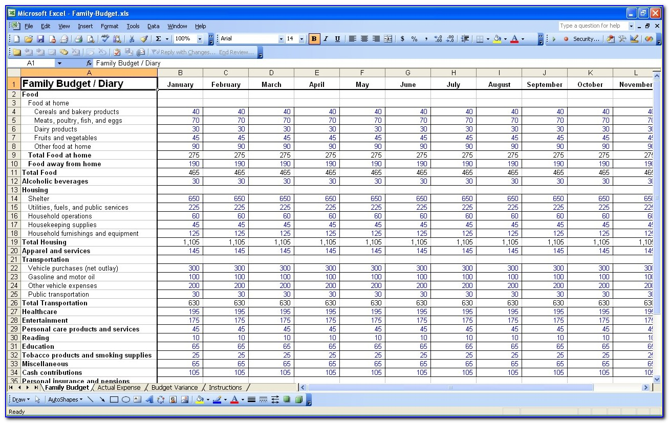 My Daily Expenses Excel Template
