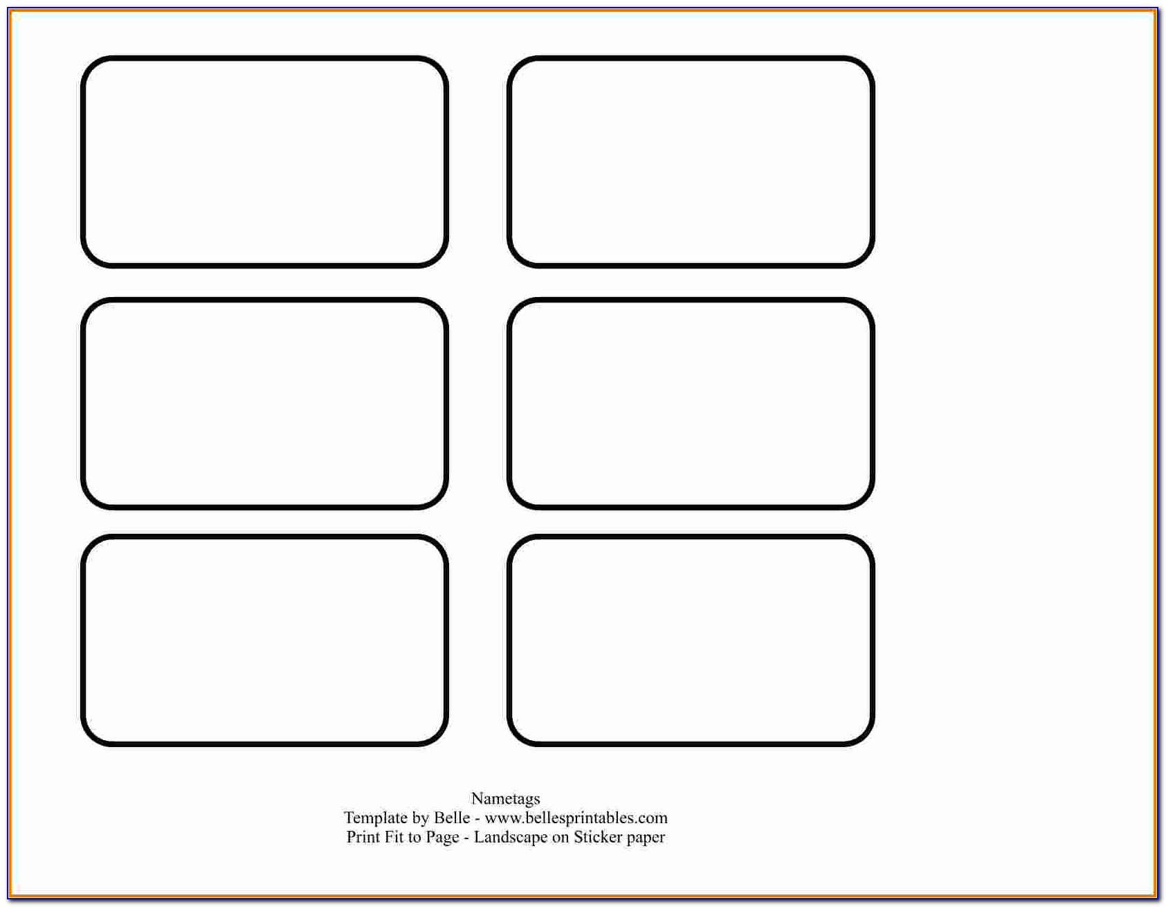 Name Badge Label Template Word