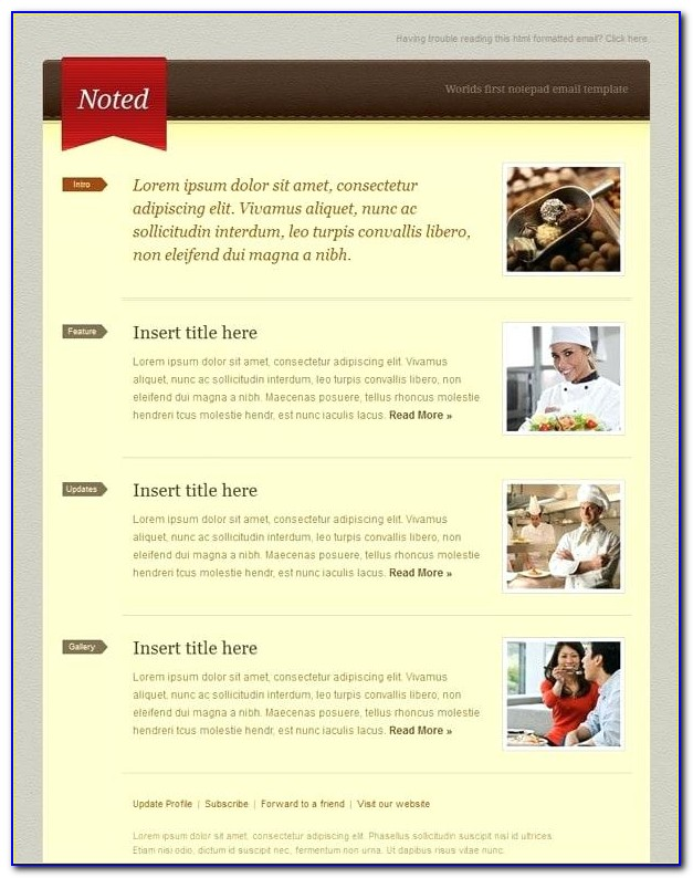 Newsletter Photoshop Template Free Download