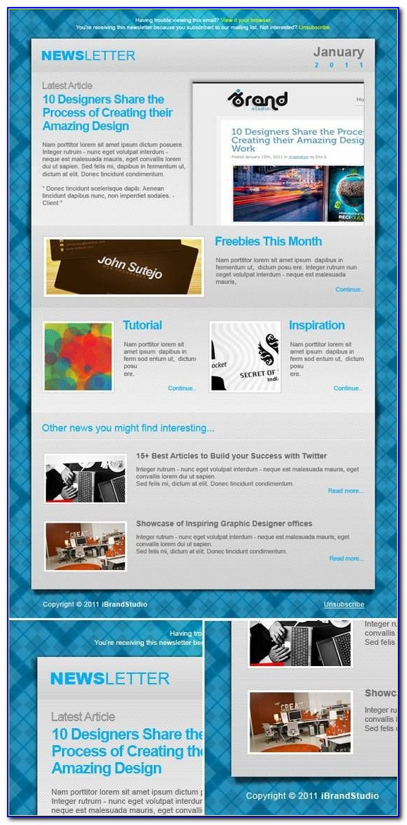 Newsletter Template Psd Free