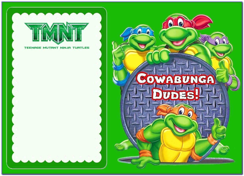 Ninja Turtle Invitation Template Free
