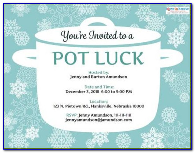 Office Potluck Email Invitation Template