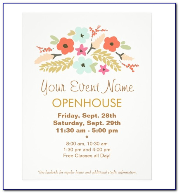 Open House Invitation Template Free Download