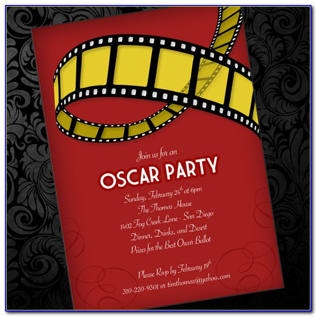 Oscar Invitation Template