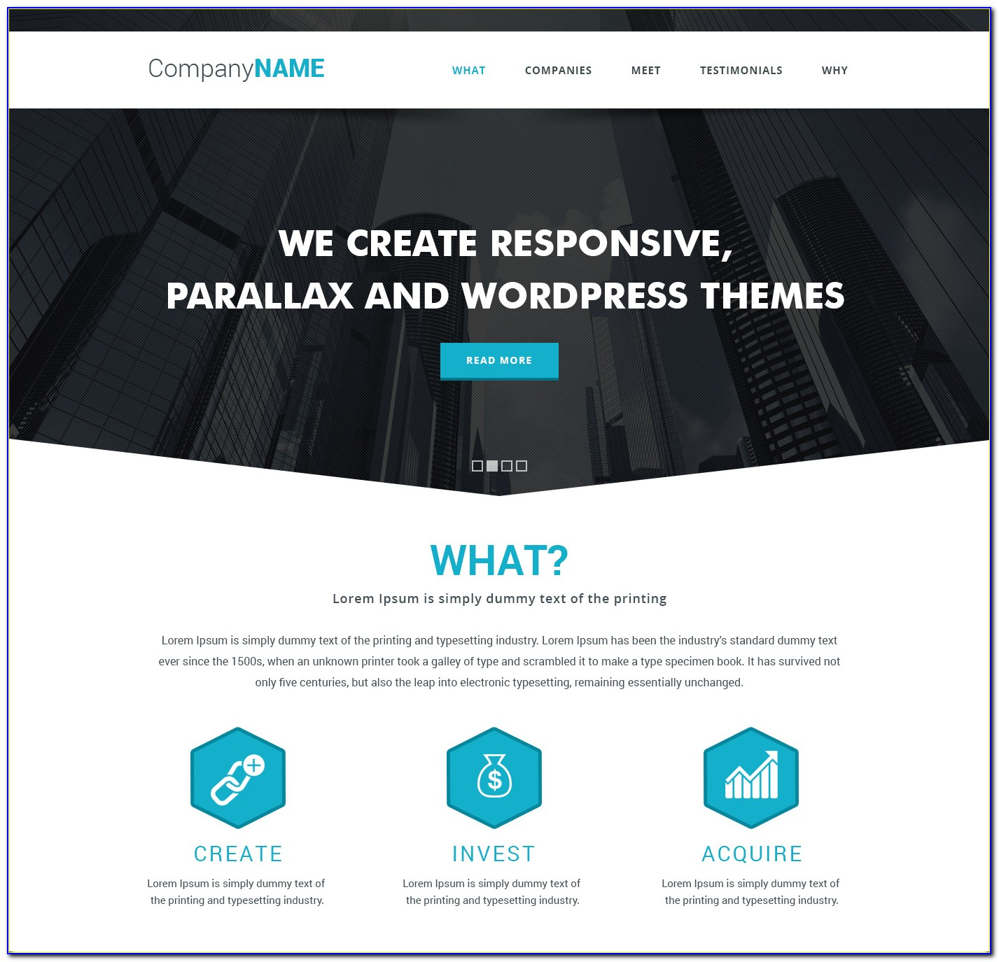 Parallax Web Template Free Download