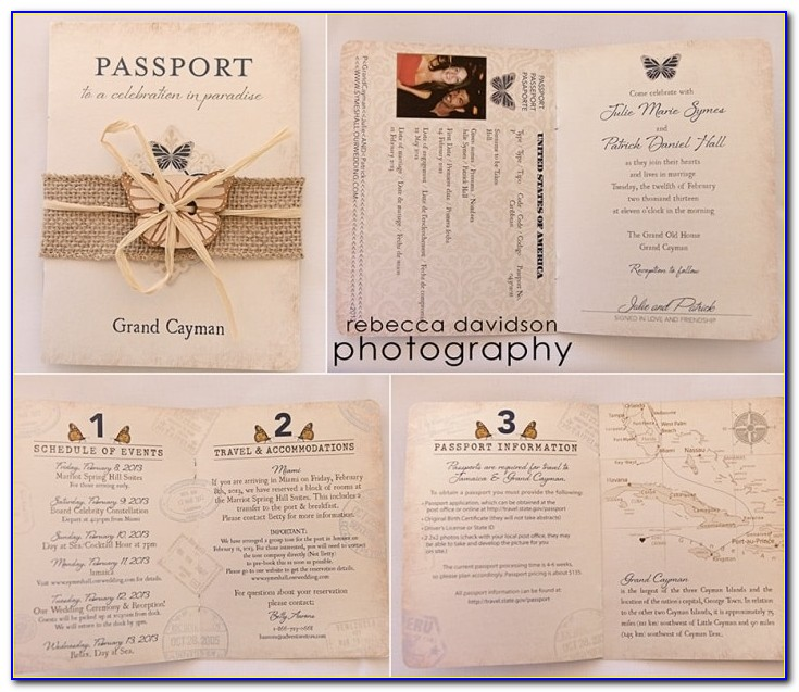 Passport Birthday Invitation Template Free