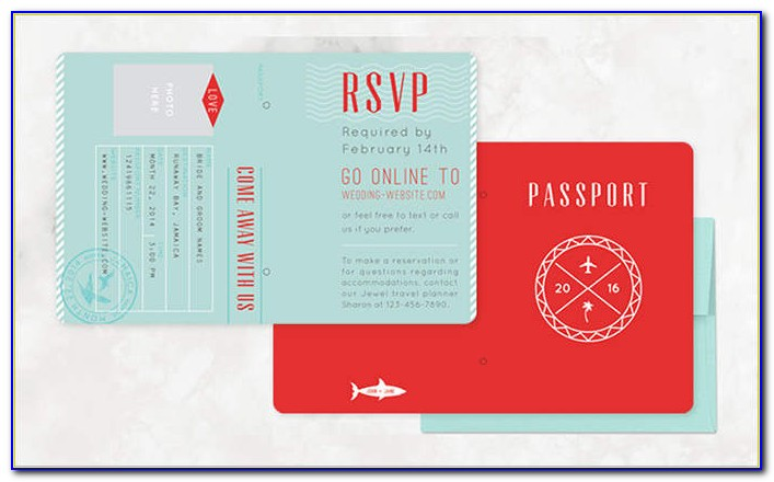 Passport Invitation Template Download