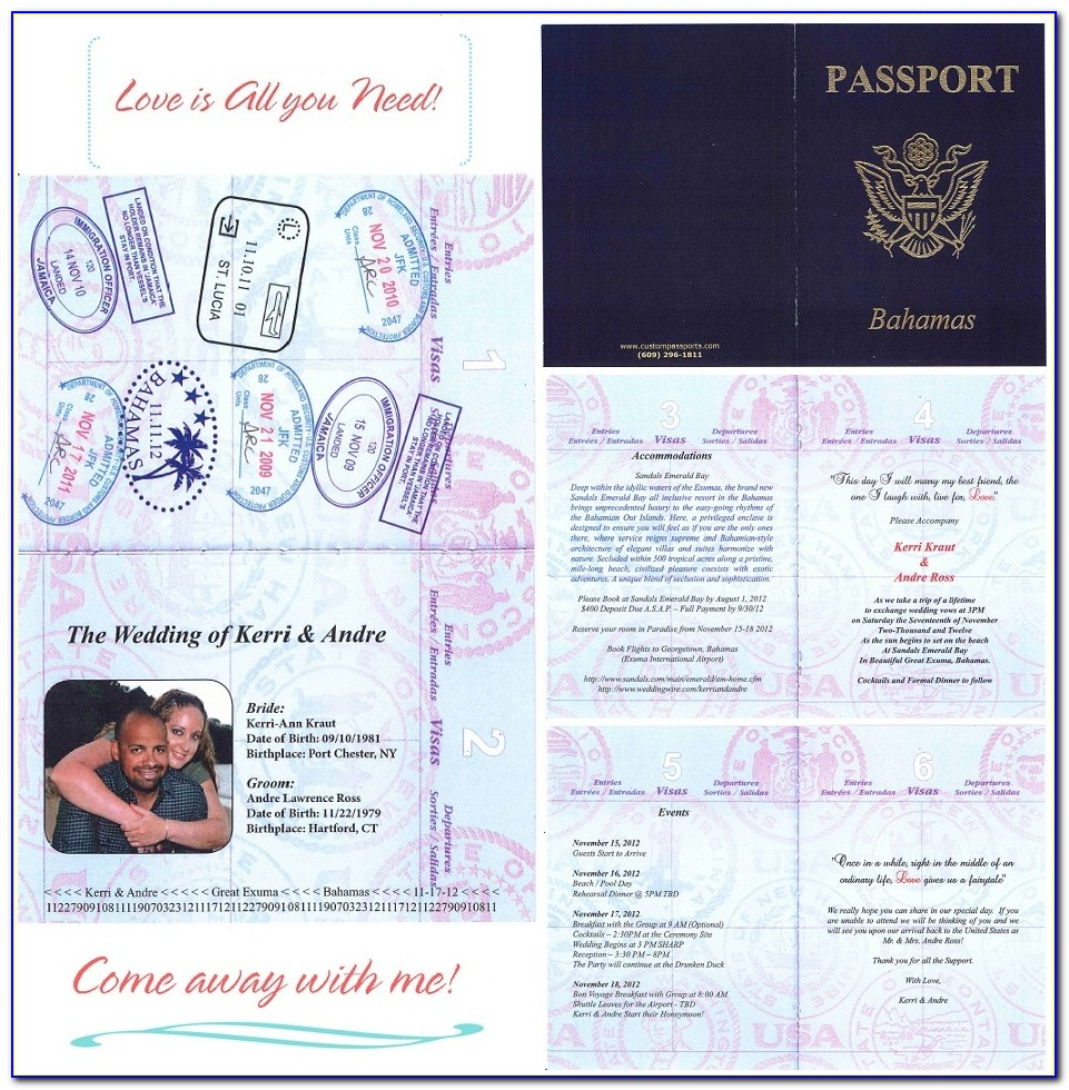 Passport Invitation Template Free