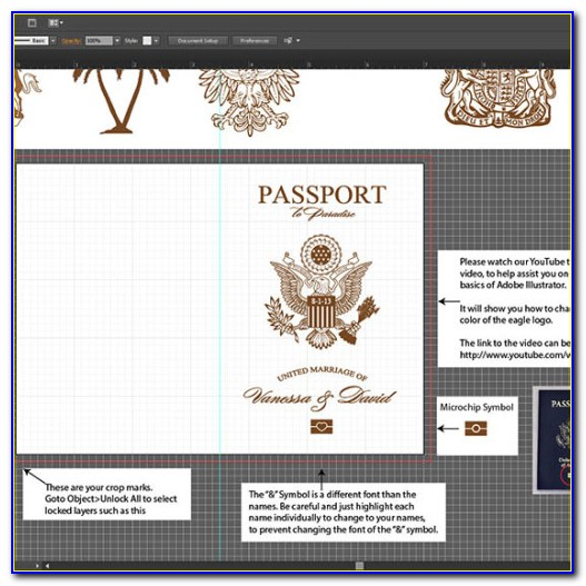 Passport Invitation Template Publisher