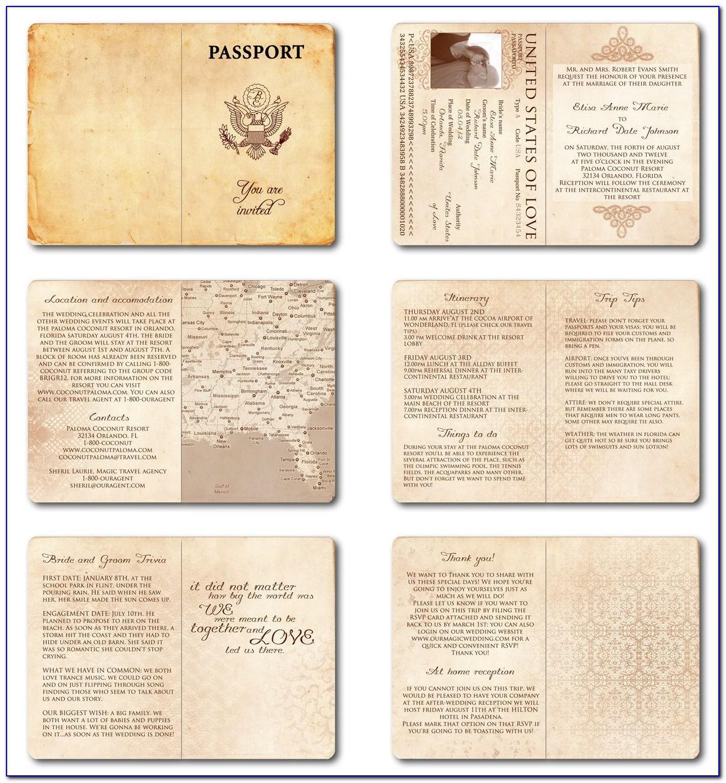 Passport Invite Template