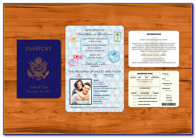 Passport Wedding Invitation Template Free Download