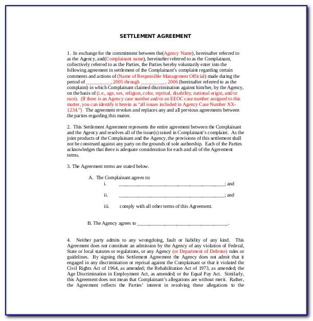 Paye Settlement Agreement Letter Template