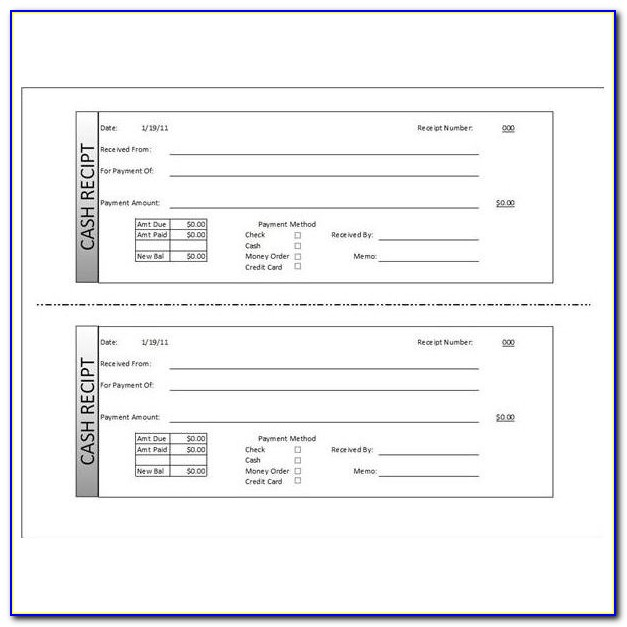 Payroll Receipt Template Word