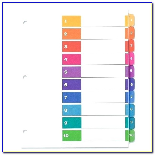 Pendaflex Hanging File Tab Template