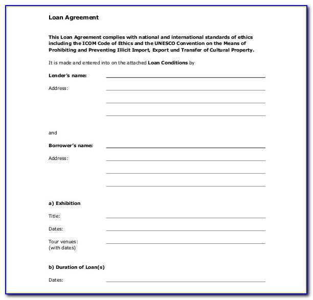 Personal Loan Template Word Free