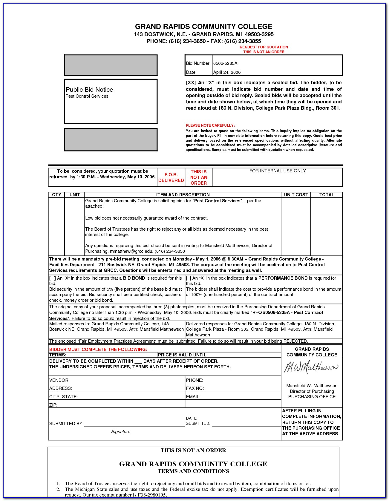 Pest Control Service Agreement Example