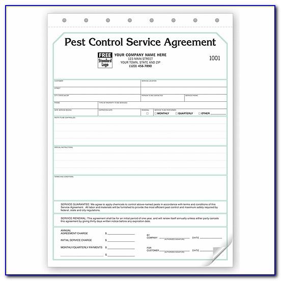 Pest Control Service Agreement Template