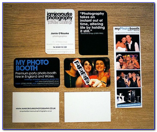 Photo Booth Business Card Template