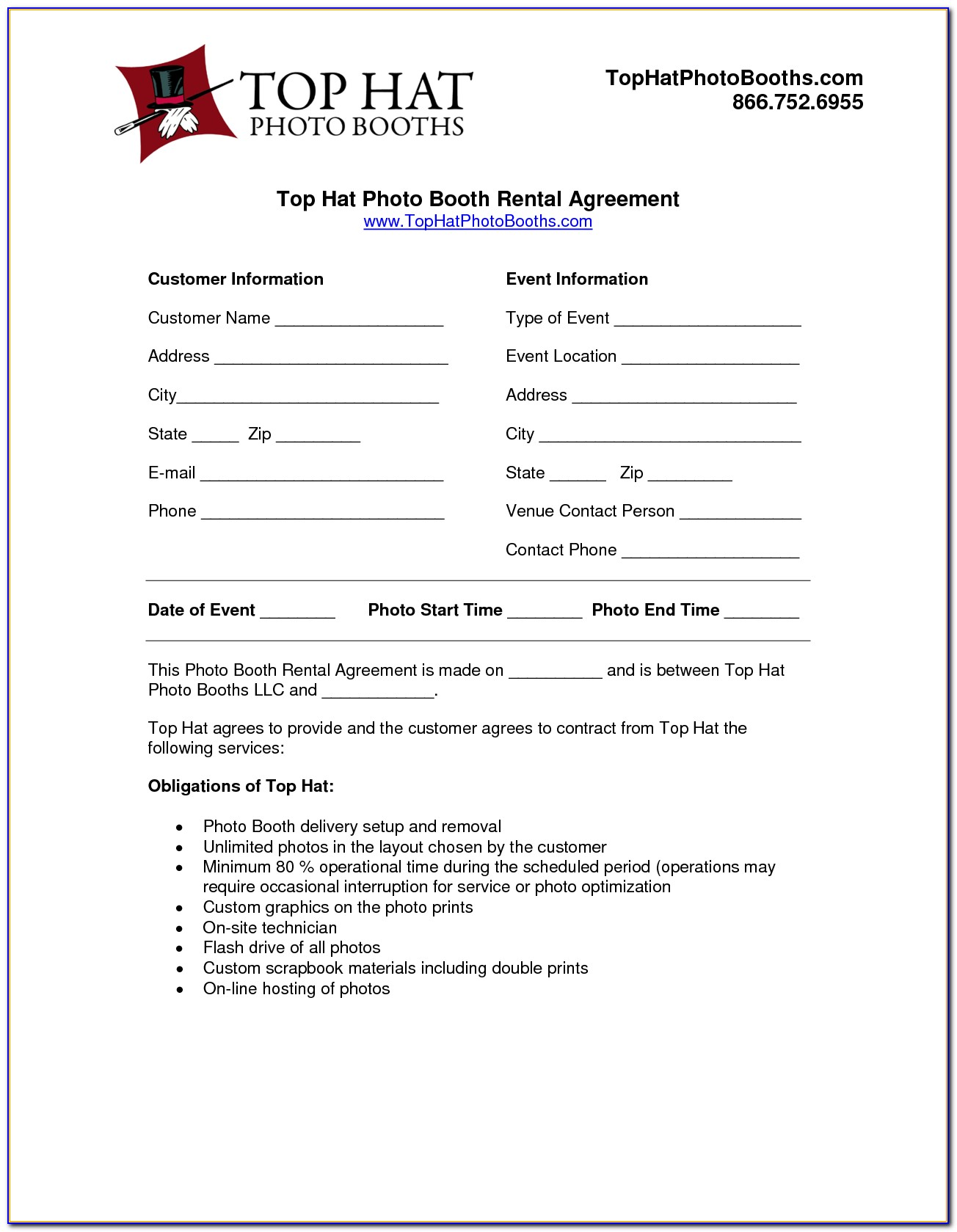 Photo Booth Contract Template