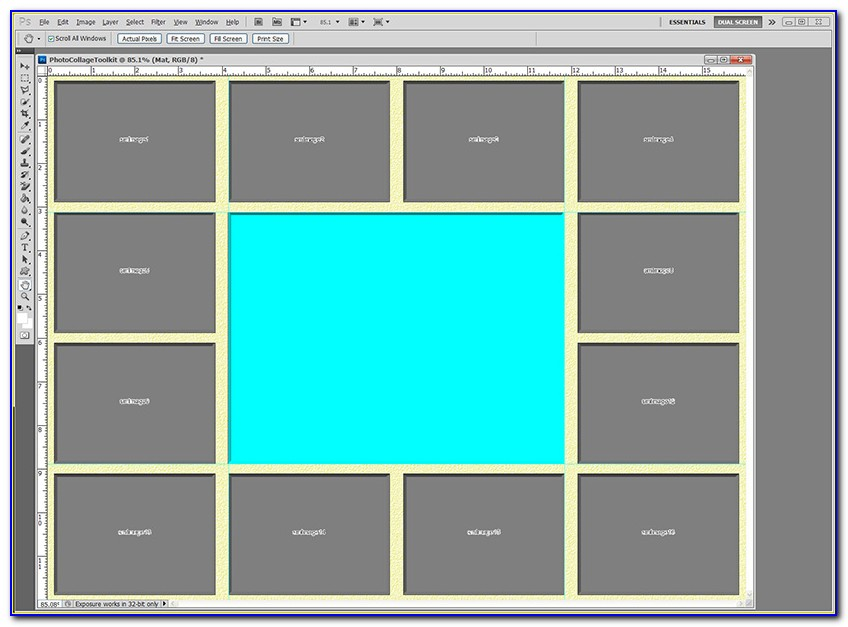 Photo Collage Template Photoshop Cs6 Free
