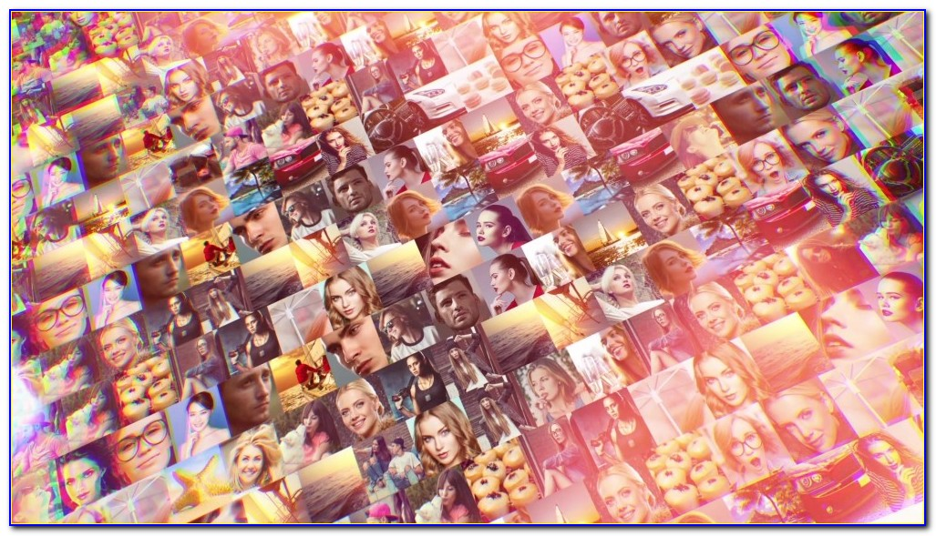Photo Mosaic After Effects Template Free Download