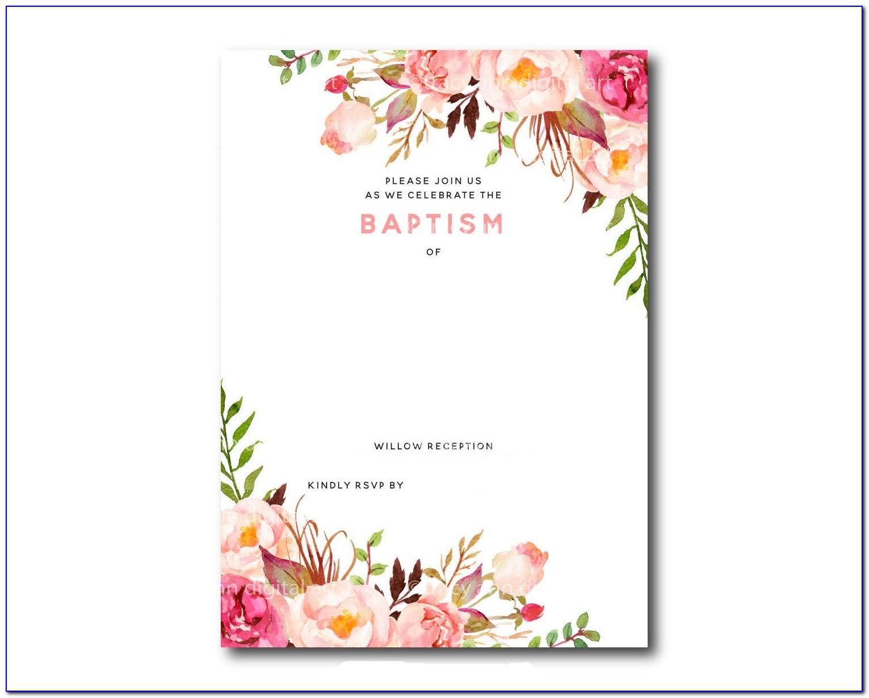 Photoshop Baptism Invitation Templates Free
