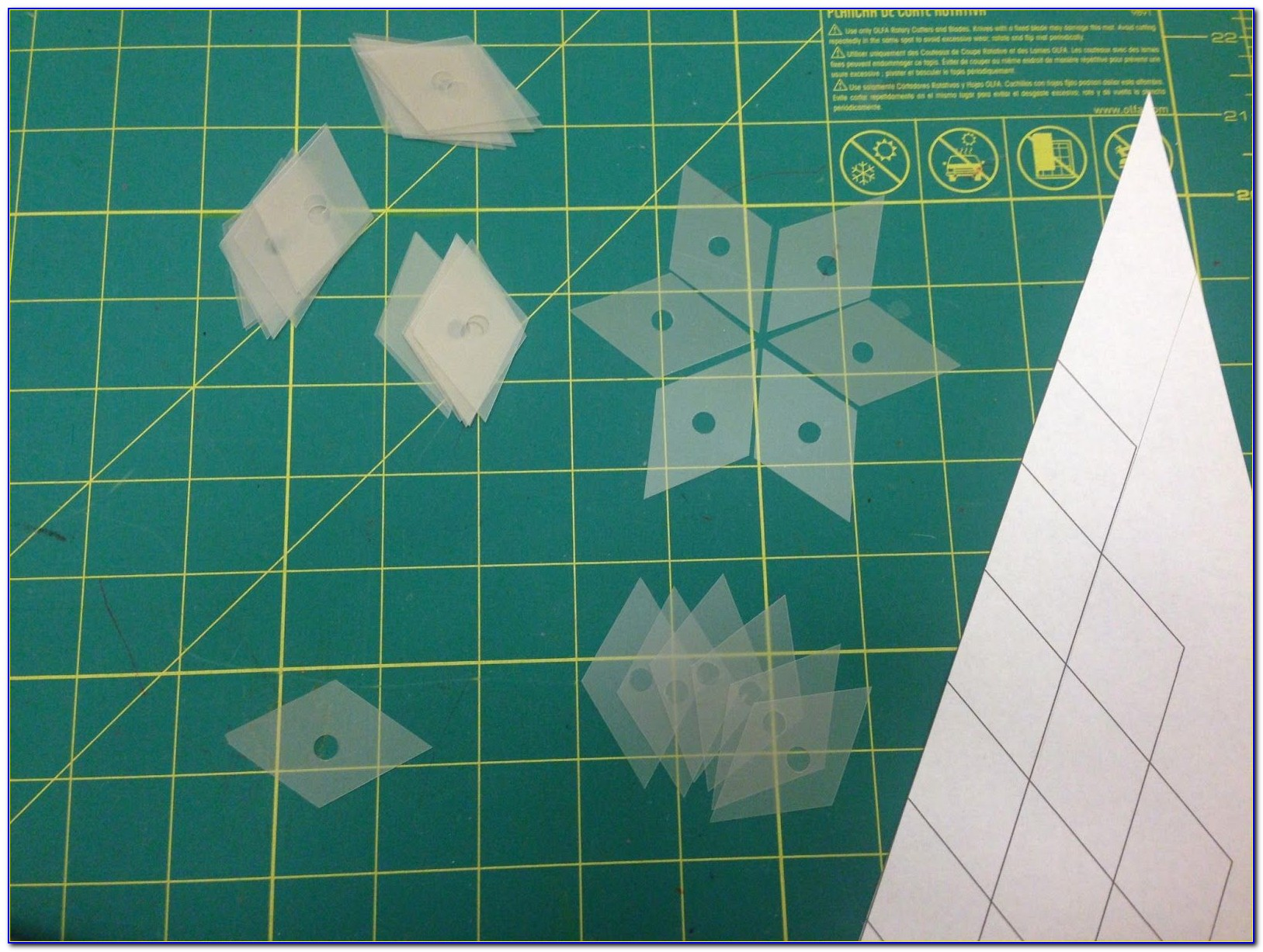 Plastic Hexagon Templates For Patchwork
